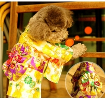 (L)Japanese style puppy dress (Gold)(SL,breast50cm)
