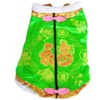 (S)(Green)Chinese New Year puppy dress(Green)(SS,breast30cm)