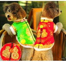 (ML)(Red)Chinese New Year puppy dress(Red)(ML,breast45cm)